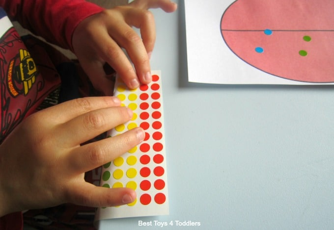 Fine motor play stickers