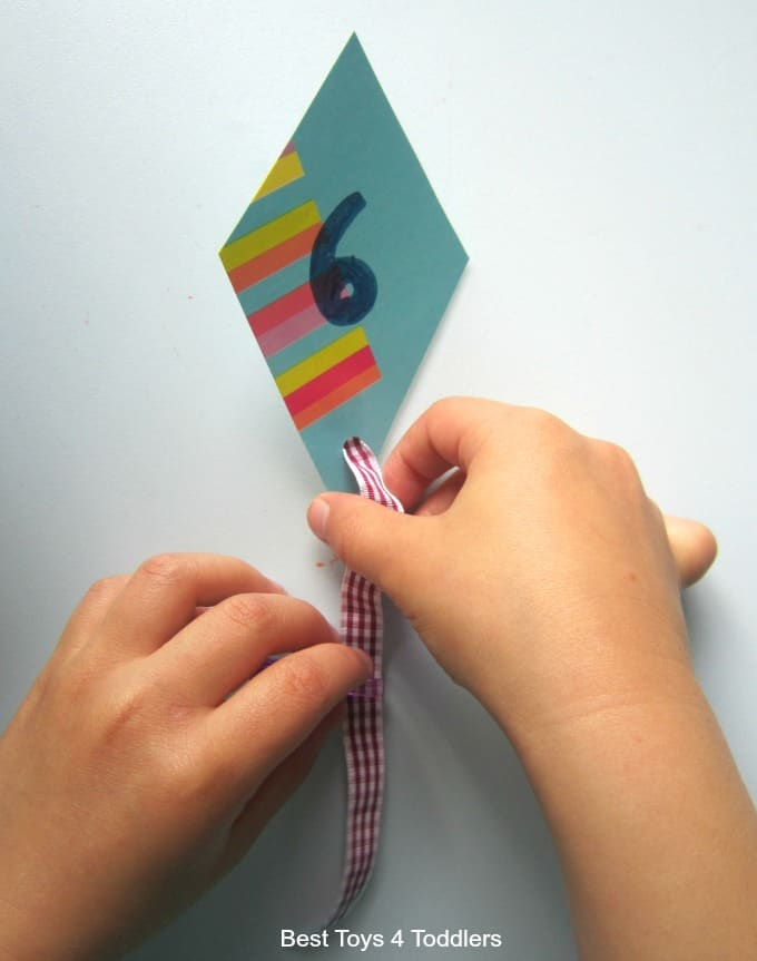 Fine motor play with kites
