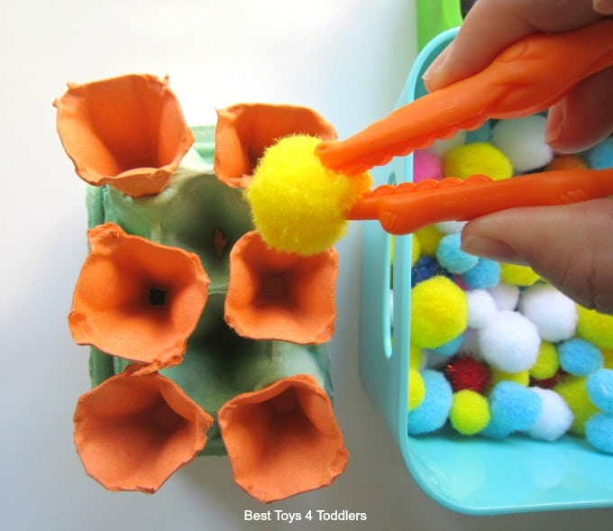 Gator grabber ice cream fine motor play