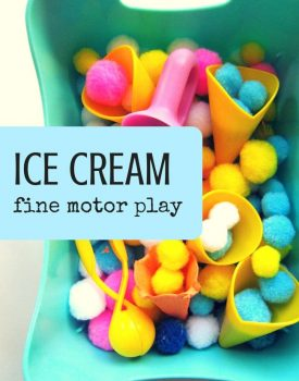 Best Toys 4 Toddlers - Ice cream play and fine motor practice for toddlers and preschoolers
