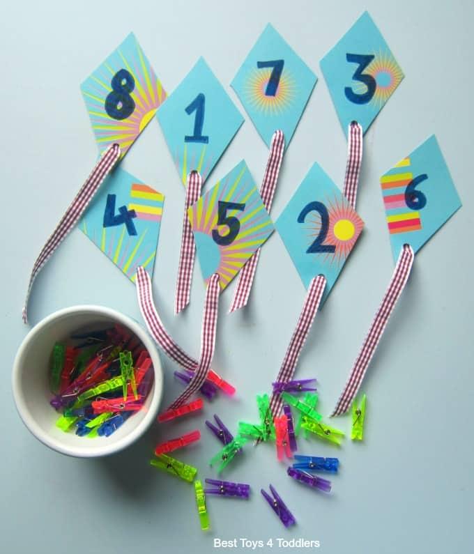 Number kite play