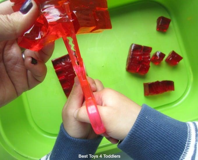 Scissor skills with jelly