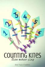 Counting Kites Fine Motor Play