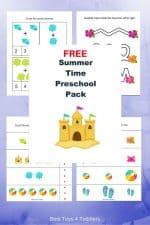 Free Summer Printable Pack for Preschoolers