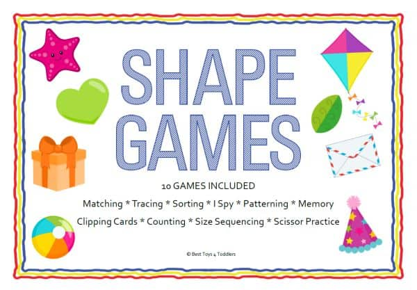 Best Toys 4 Toddlers - 10 printable shape games for tot school and preschool
