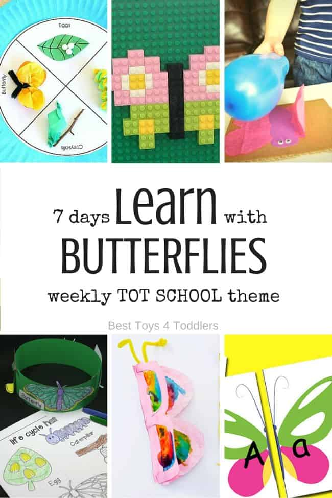 Best Toys 4 Toddlers - 7 days of learning activities with butterflies for tot school (with free printable)