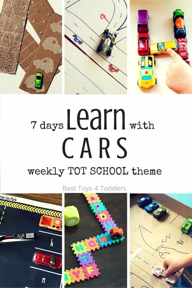 Best Toys 4 Toddlers - 7 days of learning activities with toy cars for tot school (with free printable planner)