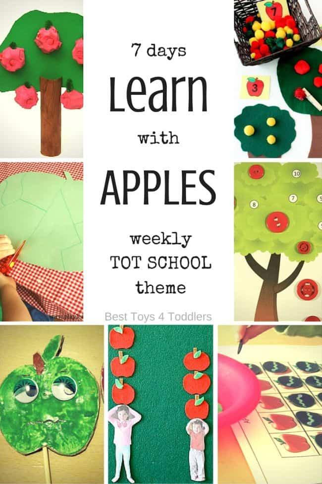 Best Toys 4 Toddlers - Weekly planner for tot shool: learning activities for apple theme! These ideas work well in preschool if you have an older kids.