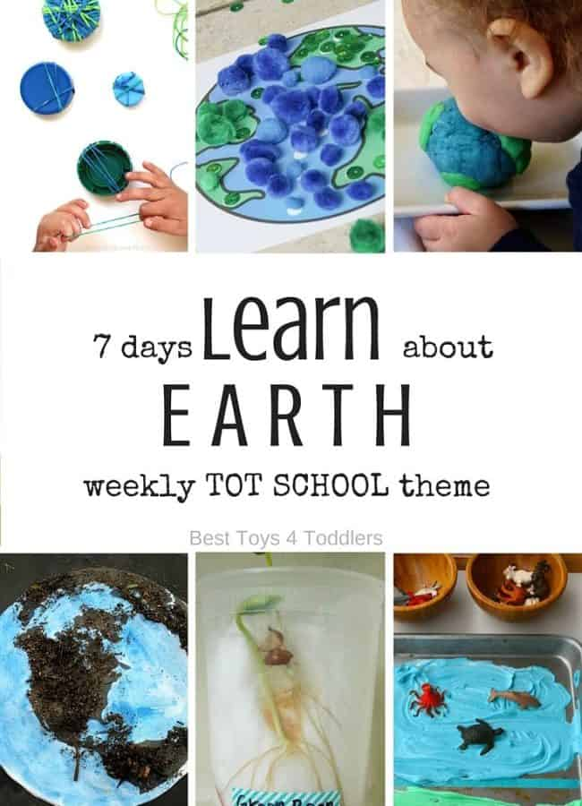 Best Toys 4 Toddlers - Weekly Tot School theme: EARTH - 7 days of planned activities for toddlers and preschoolers (with free printable planner)