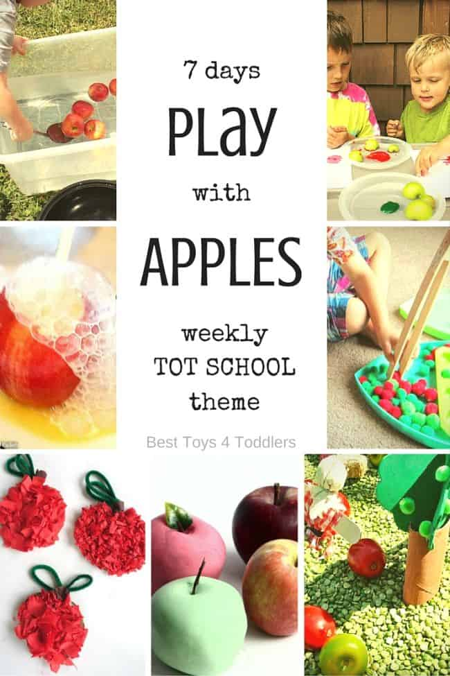 Best Toys 4 Toddlers - 7 days of apple themed activities toddlers will enjoy playing as we planned for weekly tot school! Would work great for preschoolers too!