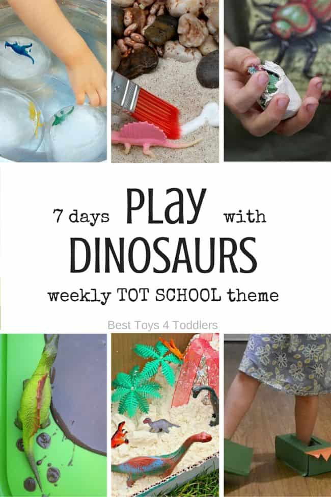 Best Toys 4 Toddlers - Weekly Tot School Theme: DINOSAURS - activities for 7 days (with free printable planner)