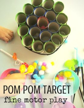 Pom Pom Fine Motor Target