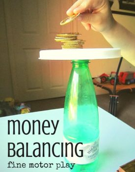 Money Balancing for Fine Motor Play