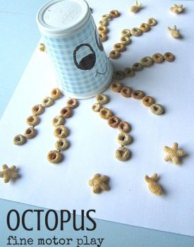 Best Toys 4 Toddlers - perfect fine motor activity to go with under the sea or ocean theme - edible octopus for toddlers and preschoolers!