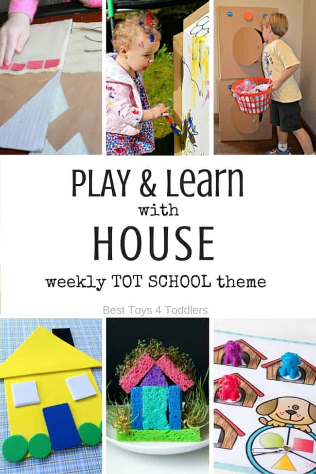 Best Toys 4 Toddlers - 7 Days of House / Home Themed Activities for Tot School - play and leaning activities for toddlers and preschoolers with free printable weekly planner