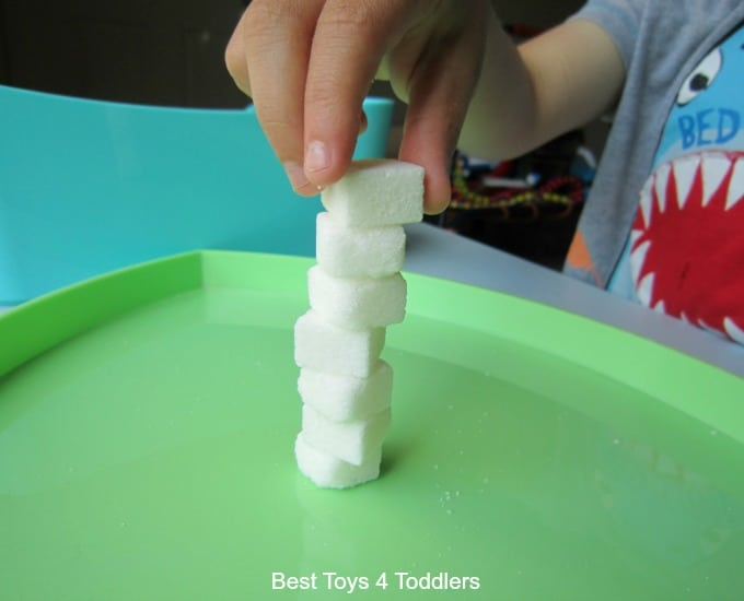 Building towers with sugar cubes