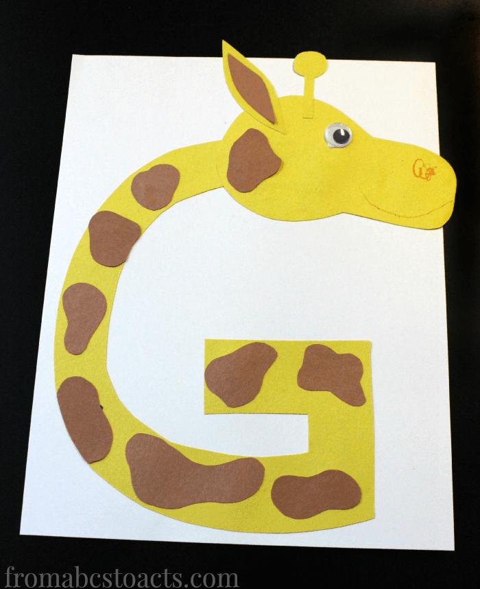 Letter-G-Giraffe-Uppercase-Alphabet-Letter-Crafts-for-Preschoolers