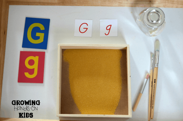 Letter-G-sand-tray