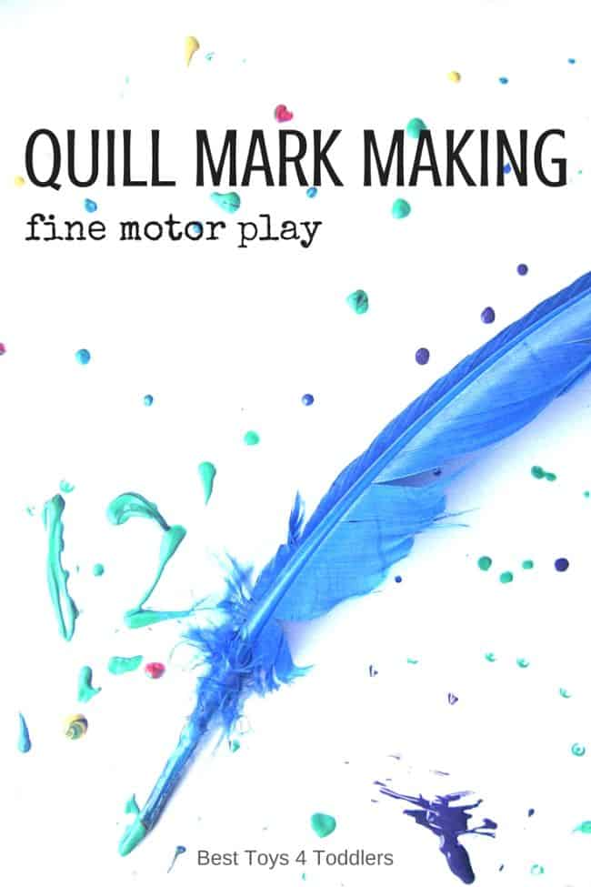 Best Toys 4 Toddlers - Quill Mark Making for fine motor practice with toddlers and preschoolers