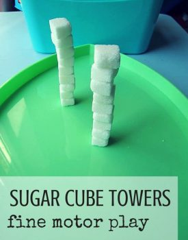 Sugar Cube Fine Motor Tower