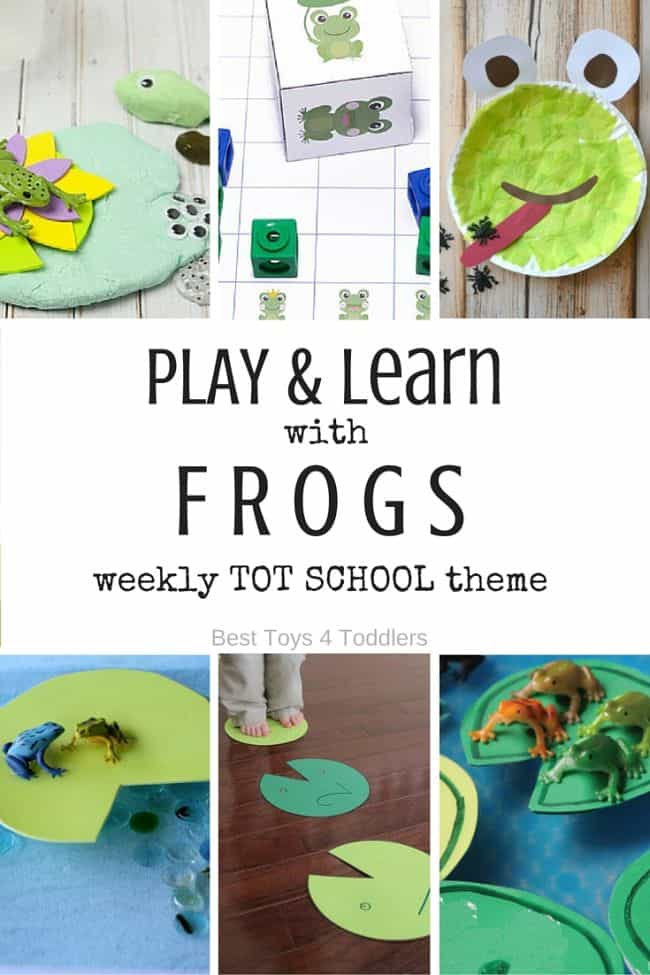Best Toys 4 Toddlers - Weekly Tot School Theme : FROGS - 7 days of playing and learning activities for toddlers and preschoolers (with free prinable planner)