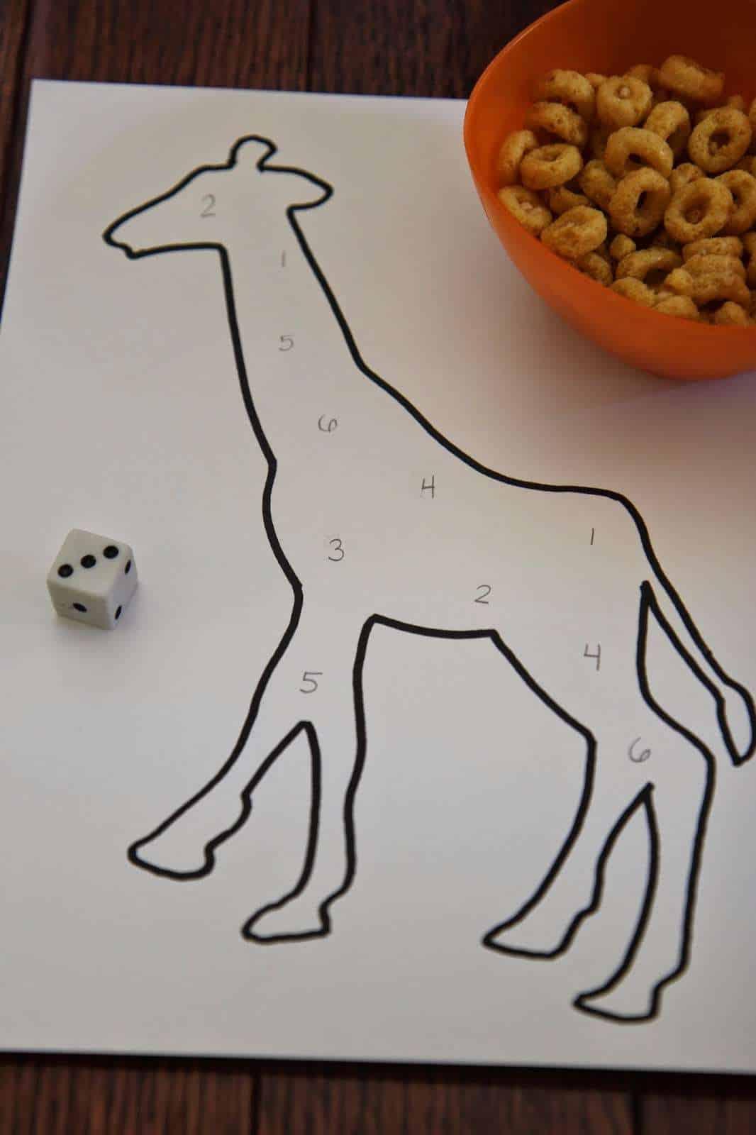 giraffe counting activity
