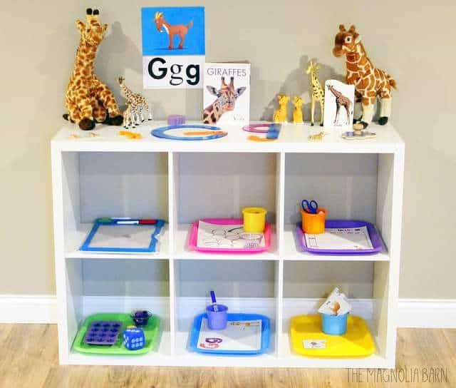 letter G shelf