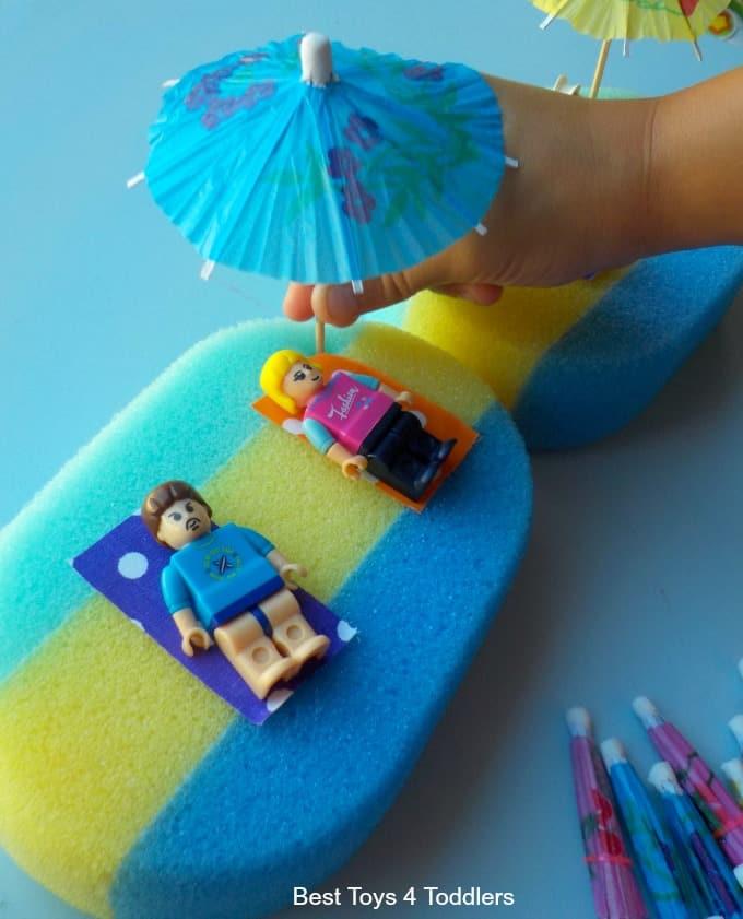 Summer umbrella play