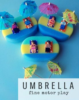 Umbrella Fine Motor Play