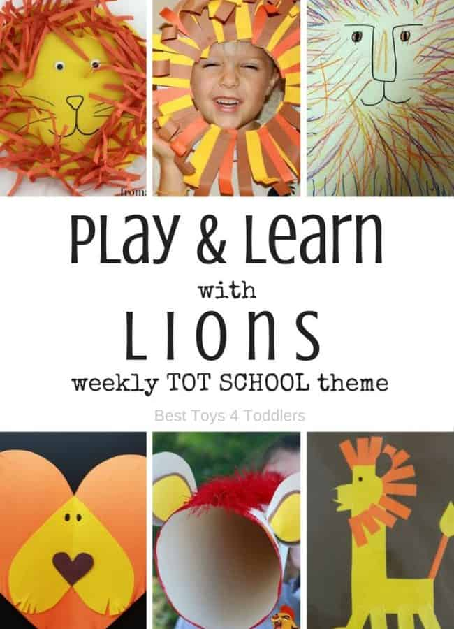 Best Toys 4 Toddlers - 7 days of lion themed activities for tot school (with free printable planner)