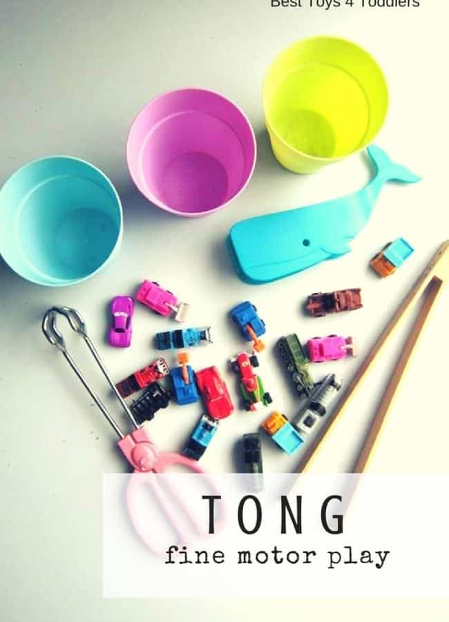 Best Toys 4 Toddlers - Working on fine motor skills with toddler and preschooler with variety of tongs