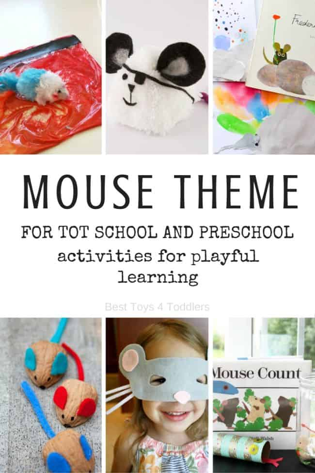 Best Toys 4 Toddlers - Mouse Theme for tot school and preschool with printable planner