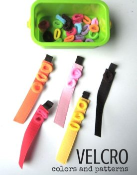 Velcro Fine Motor Color Sort and Patterning Activity