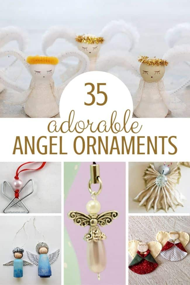 35 adorable Christmas Angel ornaments for kids and parents to make together during Advent season!