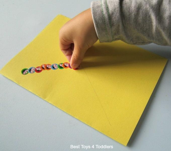 fine-motor-skills-using-stickers