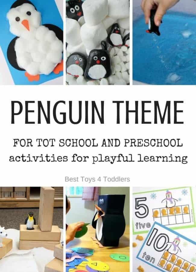 Best Toys 4 Toddlers - Weekly tot school and preschool theme - PENGUINS (with free printable weekly planner)