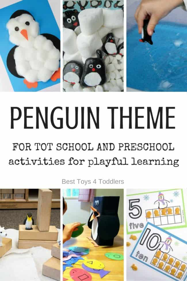 Best Toys 4 Toddlers - Weekly tot school and preschool theme - PENGUINS (with free printable weekly planner)