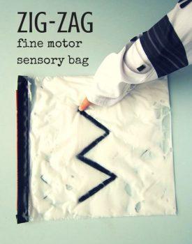 Zig Zag Fine Motor Sensory Bag