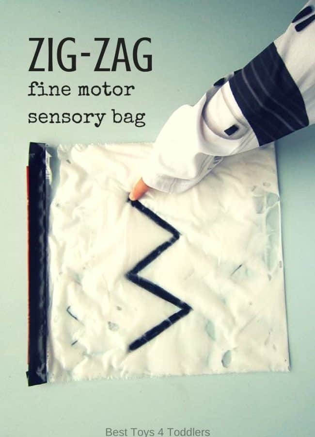Best Toys 4 Toddlers - Zig-Zag sensory bag for toddlers and preschoolers for fine motor practice