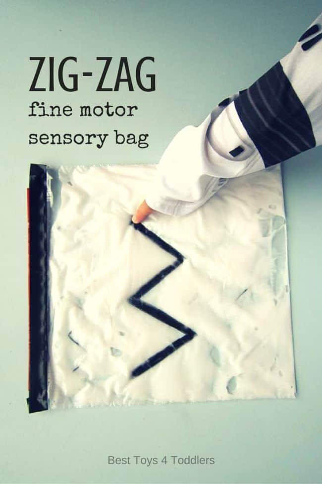 Zig Zag Fine Motor Sensory Bag Best Toys 4 Toddlers