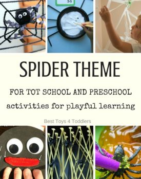 Spider Theme for Tot School and Preschool