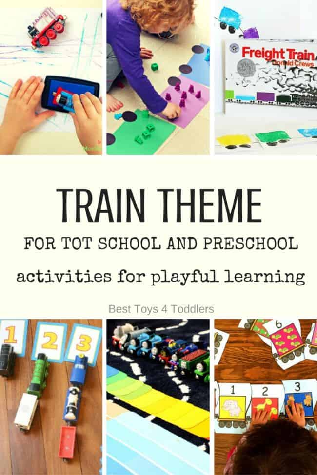 Best Toys 4 Toddlers - Weekly Activity Planner for Tot School and Preschool with Train Theme for Letter T (free printable planner available)