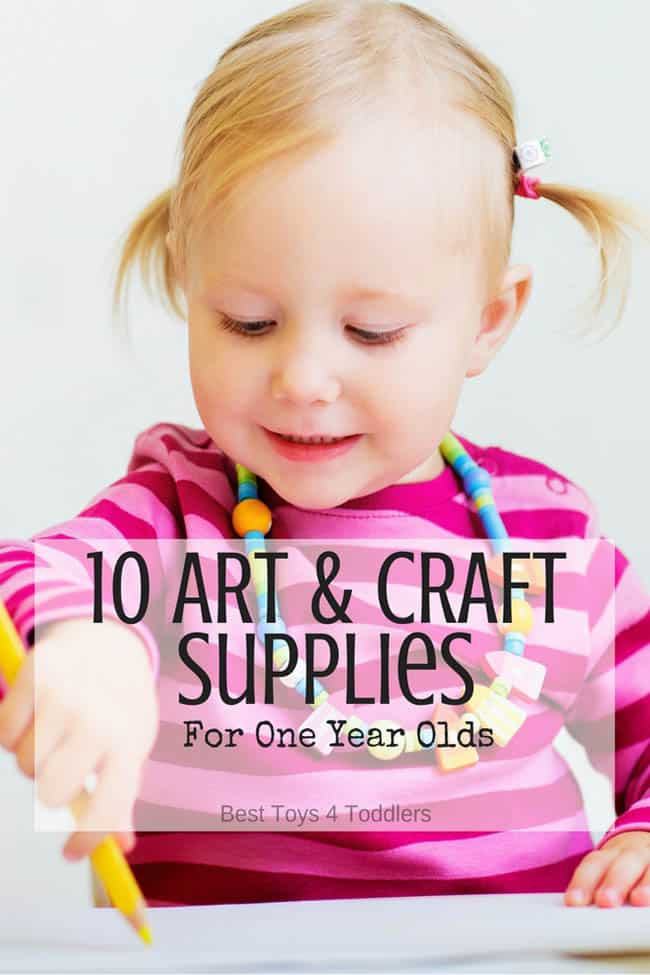 Art and Craft Supplies for One Year Old Kids - Supplies that all one year olds will love creating with