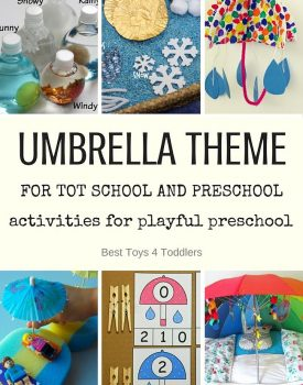 Best Toys 4 Toddlers - Weekly tot school and preschool planner for Umbrella theme (letter U) with free printable planner