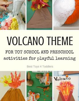 Volcano Theme for Tot School and Preschool