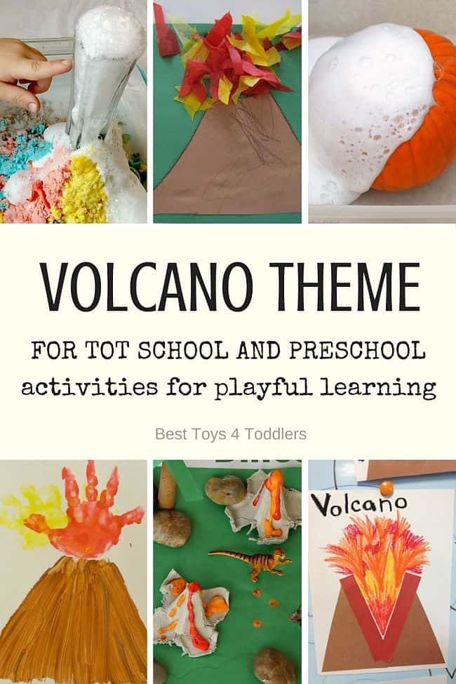 Best Toys 4 Toddlers - V is for Volcano - printable weekly planner with activities for toddlers and preschoolers