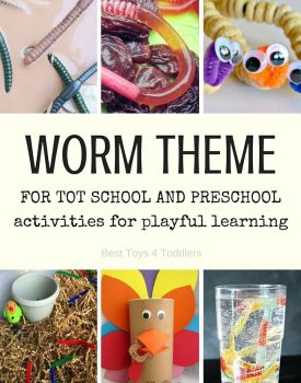 Worm Theme for Tot School and Preschool