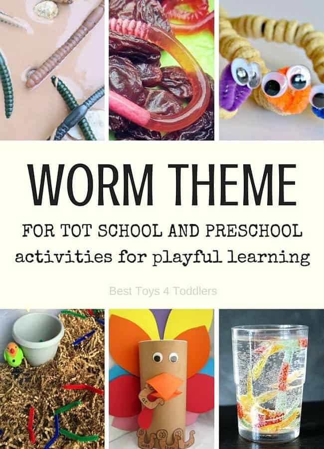 Best Toys 4 Toddlers - Worm theme for tot school and preschool (letter w activities with free printable weekly planner)