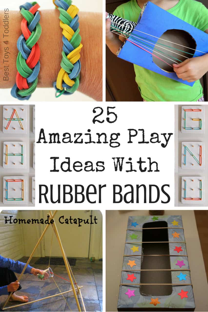 25 Fine Motor Rubber Band Activities for toddlers and preschoolers