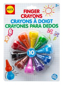 Top 10 Art & Craft Supplies For Toddlers - finger crayons!